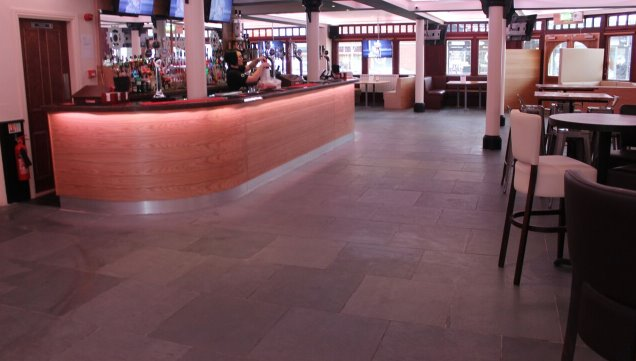 Internal and External Projects that see huge improvements using natural floor and wall stone tiles