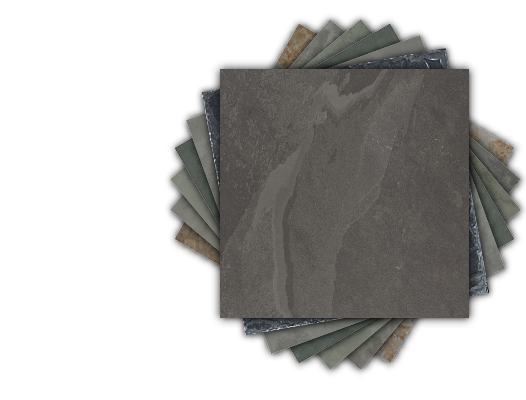 Range of different colours and textures of Brazilian Slate