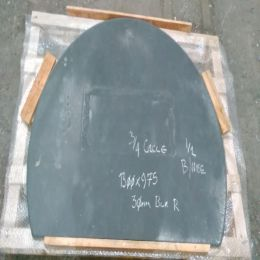 Black Riven Slate Three Quarter Circle 1300x975x30mm